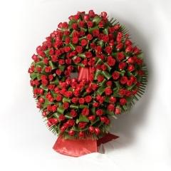 Corona de rosas funeraria