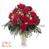 """Jarrón de Rosas """"Amor"""""""