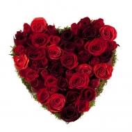 Corazón Mediano de Rosas
