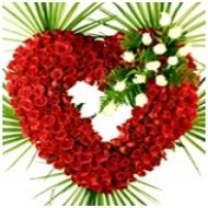 Corazón de Rosas Rojas