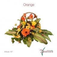 Canasta Flores Orange