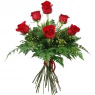 Ramo Pasión de 6 rosas rojas