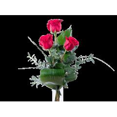 Ramo de 3 rosas rojas